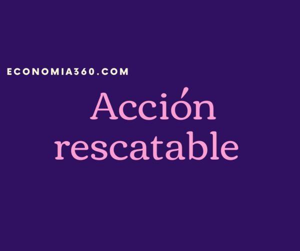 qué es Acción rescatable
