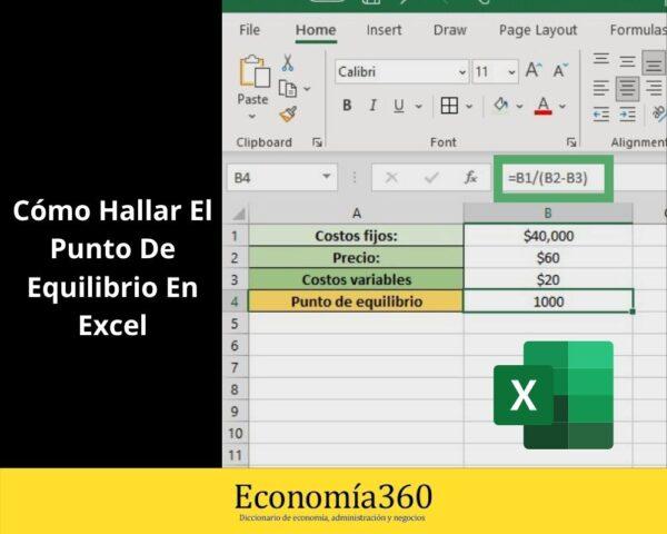 Cómo Hallar el Punto de Equilibrio en Excel